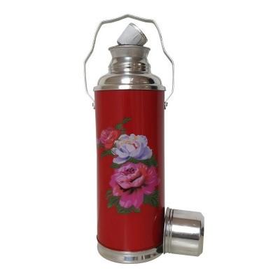 Foto van thermosfles chinees rood roos