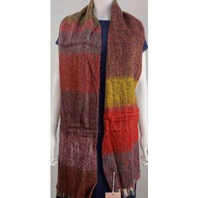 Foto van Inti sjaal wol handgeweven multi 1807P