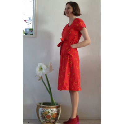 Foto van Enolah jurk katoen rood Ella