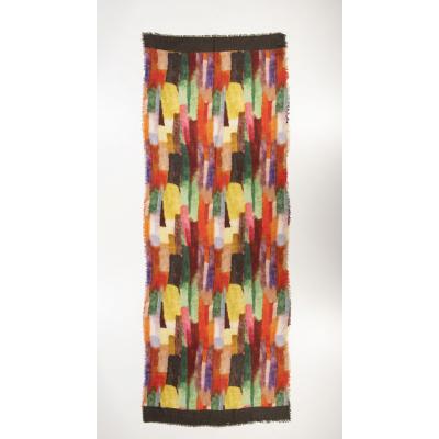 Foto van Otracosa sjaal wol 70 x 180 cm abstract 2608