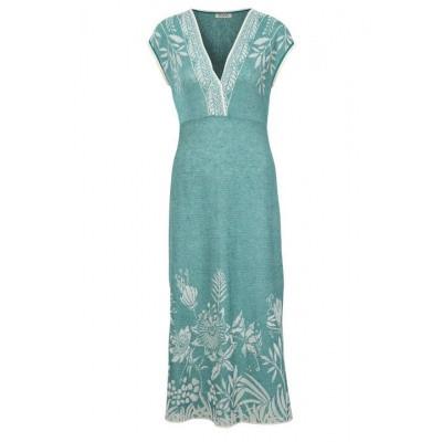 Foto van IVKO jurk lange linnen/visc aqua