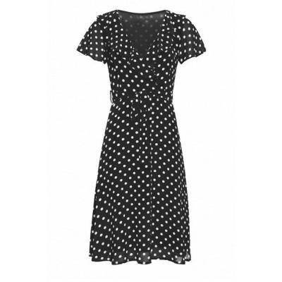 Foto van Smashed Lemon jurk polkadot zwart 20073
