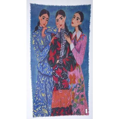 Foto van Otracosa sjaal wol 100 x 180 cm Vrouwen