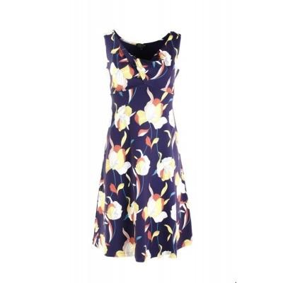 Zilch jurk katoen blauw violets