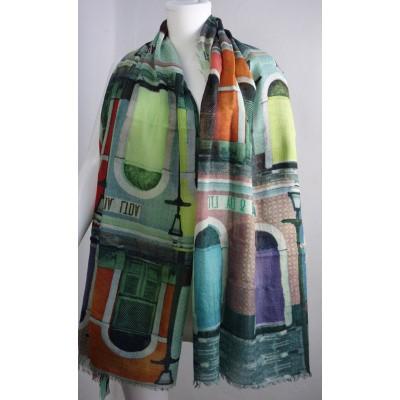 Foto van Otracosa sjaal wol 100 x 180 cm Ramen