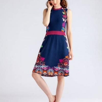 Foto van IVKO jurk katoen blauw 81618