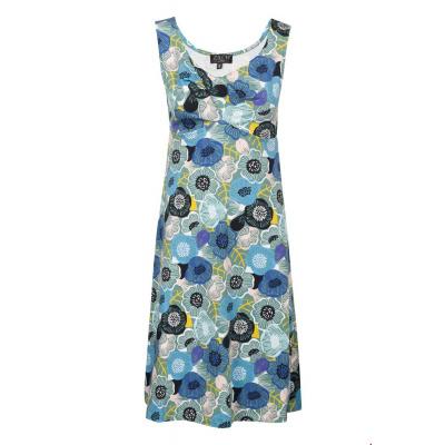 Foto van Zilch jurk katoen blauw gebloemd 973