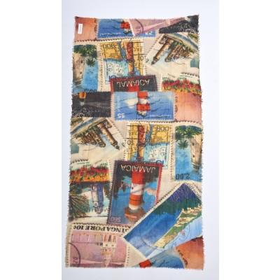 Foto van Otracosa Sjaal wol 100 x 180 cm postzegel