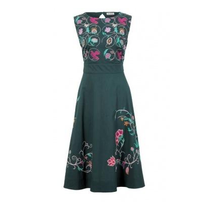 Foto van IVKO jurk katoen groen 81536