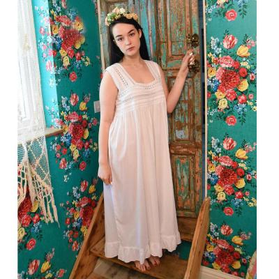 Foto van Craft katoenen nachtpon met kant Elisa