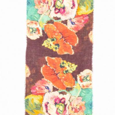 Foto van Otracosa sjaal wol 70 x 180 cm gebloemd 4164