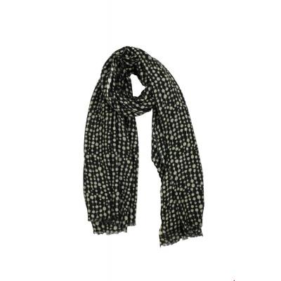 Foto van Zilch sjaal wol zwart pearls silver