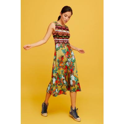 Foto van Aldo Martins jurk visc meerkleurig Yuca