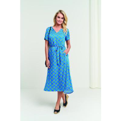 Foto van Smashed Lemon jurk viscose blauw 21156