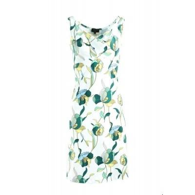 Foto van Zilch jurk katoen wit violets sunny