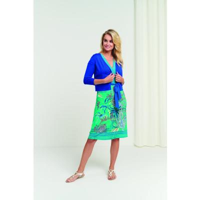 Foto van Smashed Lemon jurk viscose turquoise 21192