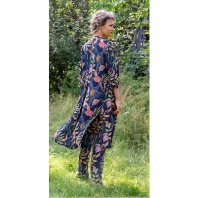 Foto van Zilch jurk viscose blauw jungle