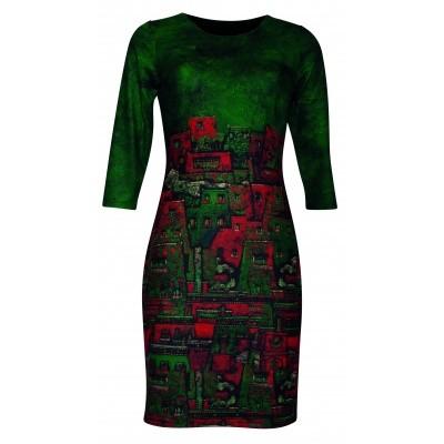 Foto van Smashed L jurk groen 18536