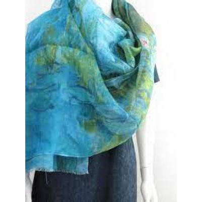 Foto van Otracosa sjaal wol 70 x 180 cm waterlelies 2452