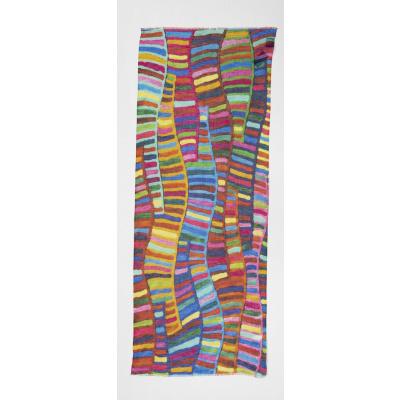 Foto van Otracosa sjaal linnen katoen abstract 4098