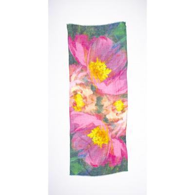 Foto van Otracosa sjaal linnen bloem 3007