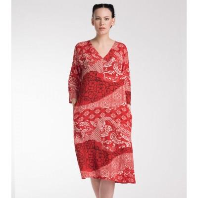 Masai jurk viscose rood Nada