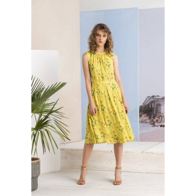 Foto van IVKO jurk viscose geel 191545