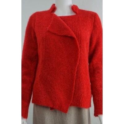 Ien & Jan vest wol warm rood Kl 60