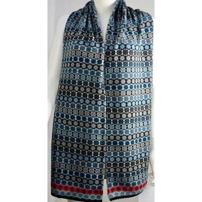 Dunque sjaal katoen grijs blauw