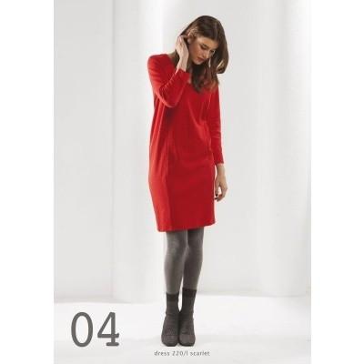 Foto van Wax jurk katoen mix rood enco