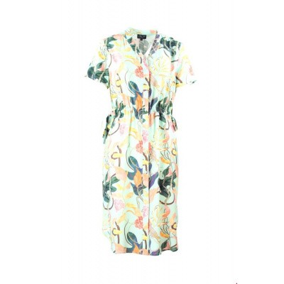 c93bffc678b Zilch jurk viscose mint jungle