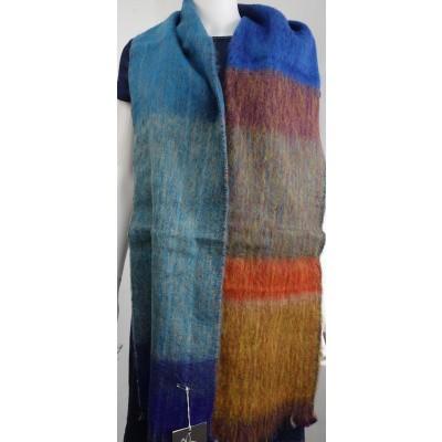 Foto van Inti sjaal wol handgeweven multi 1807O