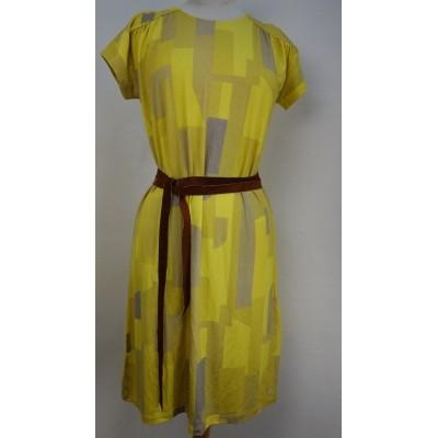 Foto van Oilily jurk viscose geel beige Dacey