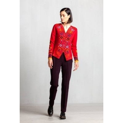 Foto van IVKO vest wol rood 72618