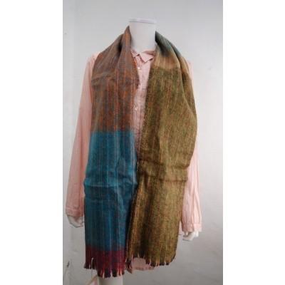 Foto van Inti sjaal wol handgeweven multi 1807k