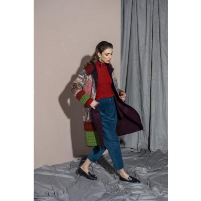 Foto van IVKO vest jas bruin rood wol 202605