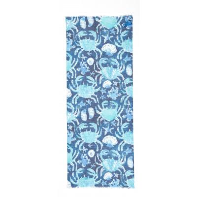 Foto van Otracosa sjaal linnen katoen blauw 4119