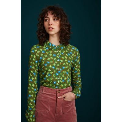 Foto van King Louie blouse viscose groen Perry