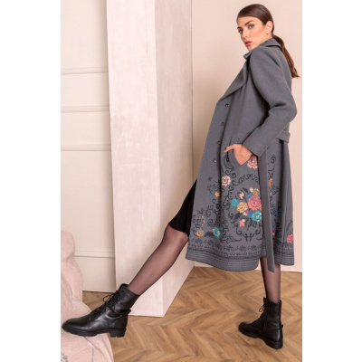 Foto van IVKO jas wol grijs geborduurd 202501