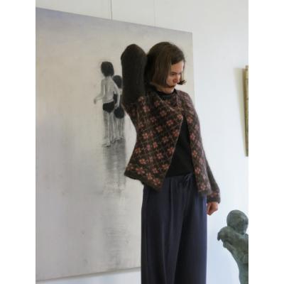 Foto van Ien & Jan vest wol grijs roze Klee2