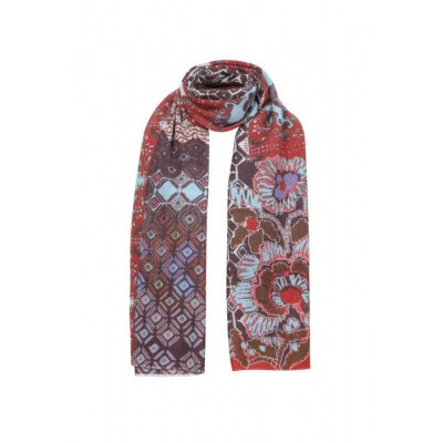 Foto van IVKO sjaal wol bruin rood 192684