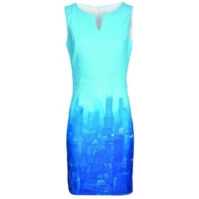 Foto van Smashed Lemon jurk katoen blauw 17258