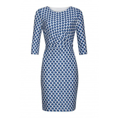 Foto van Smashed L jurk wit blauw 19205
