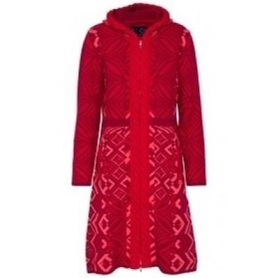 Foto van Kooi vest wol rood 17192