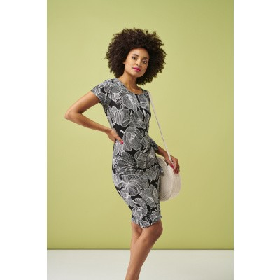 Foto van Smashed Lemon jurk viscose zwart 20106