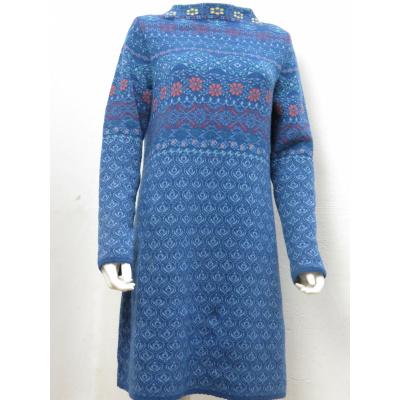 Foto van Dunque jurk eco blauw wolmix