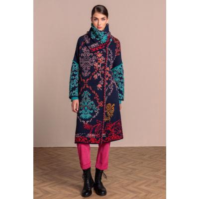 Foto van IVKO vest jas coat floral navy 202502