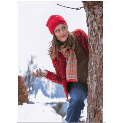 Foto van Dunque sjaal katoen rood, geel