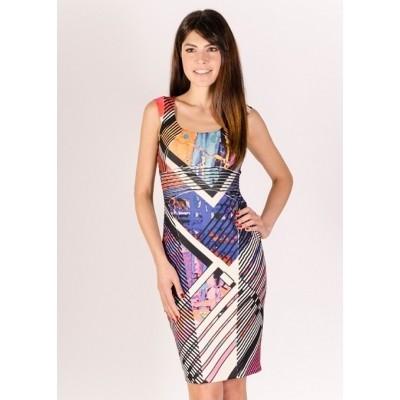 Foto van Eroke jurk polyester meerkleurig ABR39