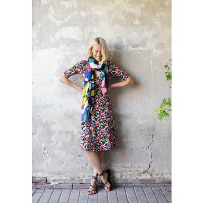 Foto van Zilch jurk ecovero visc meerkleurig 982